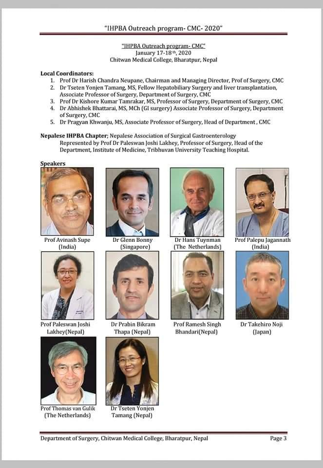 IHPBA outreach Program - CMC 2020 . NEPAL