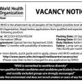 WHO nepal vacancy