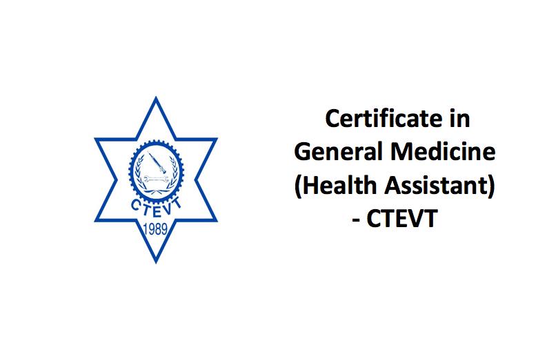 CTEVT Health Assistant Syllabus