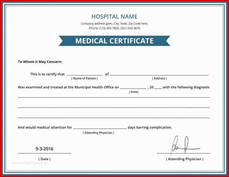 issuing medical certificate