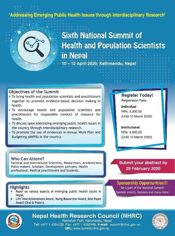6th National Summit of Health and Population Scientists in Nepal