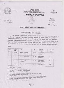 Vaccancy in Bharatpur Hospital 2076