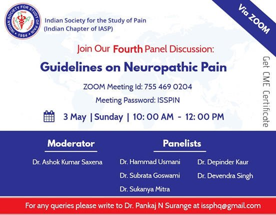 Online Panel Discussion on Guidelines on Neuropathic Pain