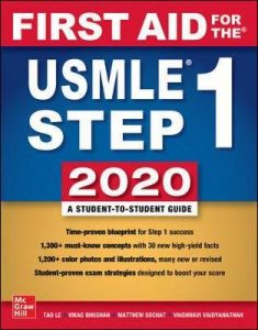 USMLE Step 1 First Aid 2020 30th Edition Free Download 235x300