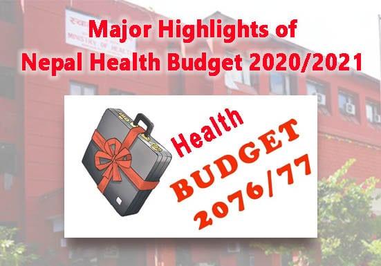 Major Highlights of Nepal Health Budget 2020 2021