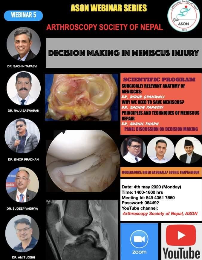 webinar- Decision making on meniscus tear