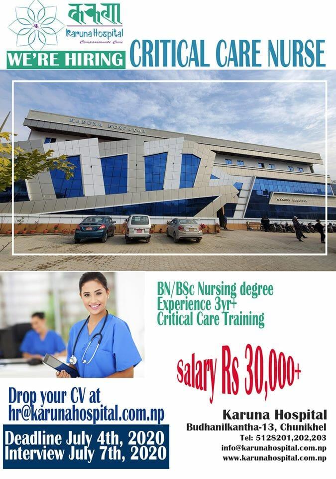 nursing vacancy at karuna hospital