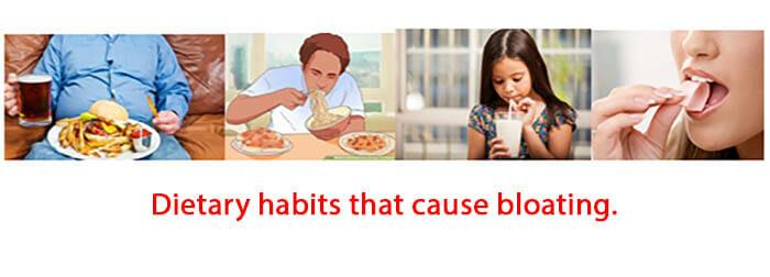 Dietary habits that cause bloating.
