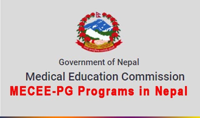 Medical Education Common Medical Entrance Exam PG MECEE PG Programs in Nepal