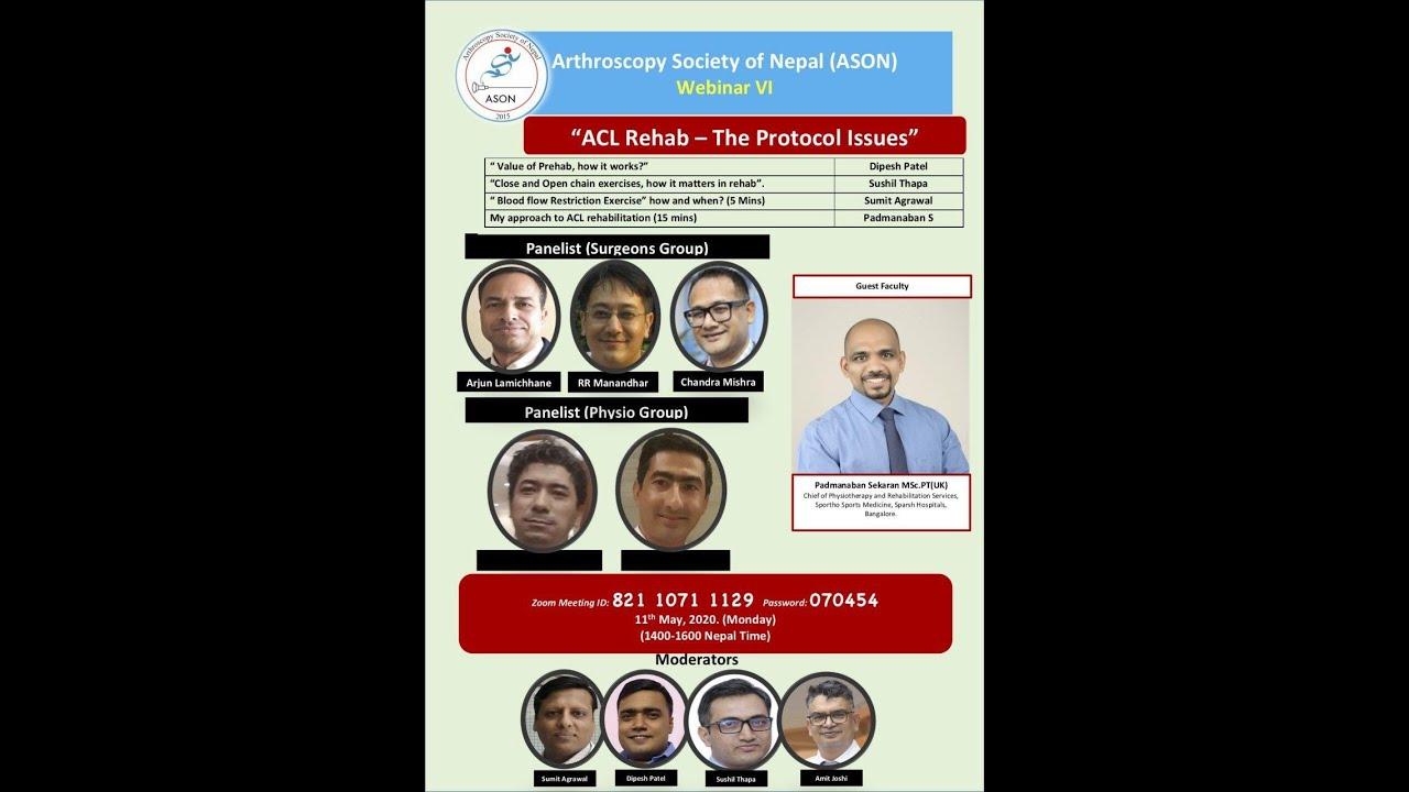 ACL REHABILITATION | THE PROTOCOL ISSUE ASON Webinar 6