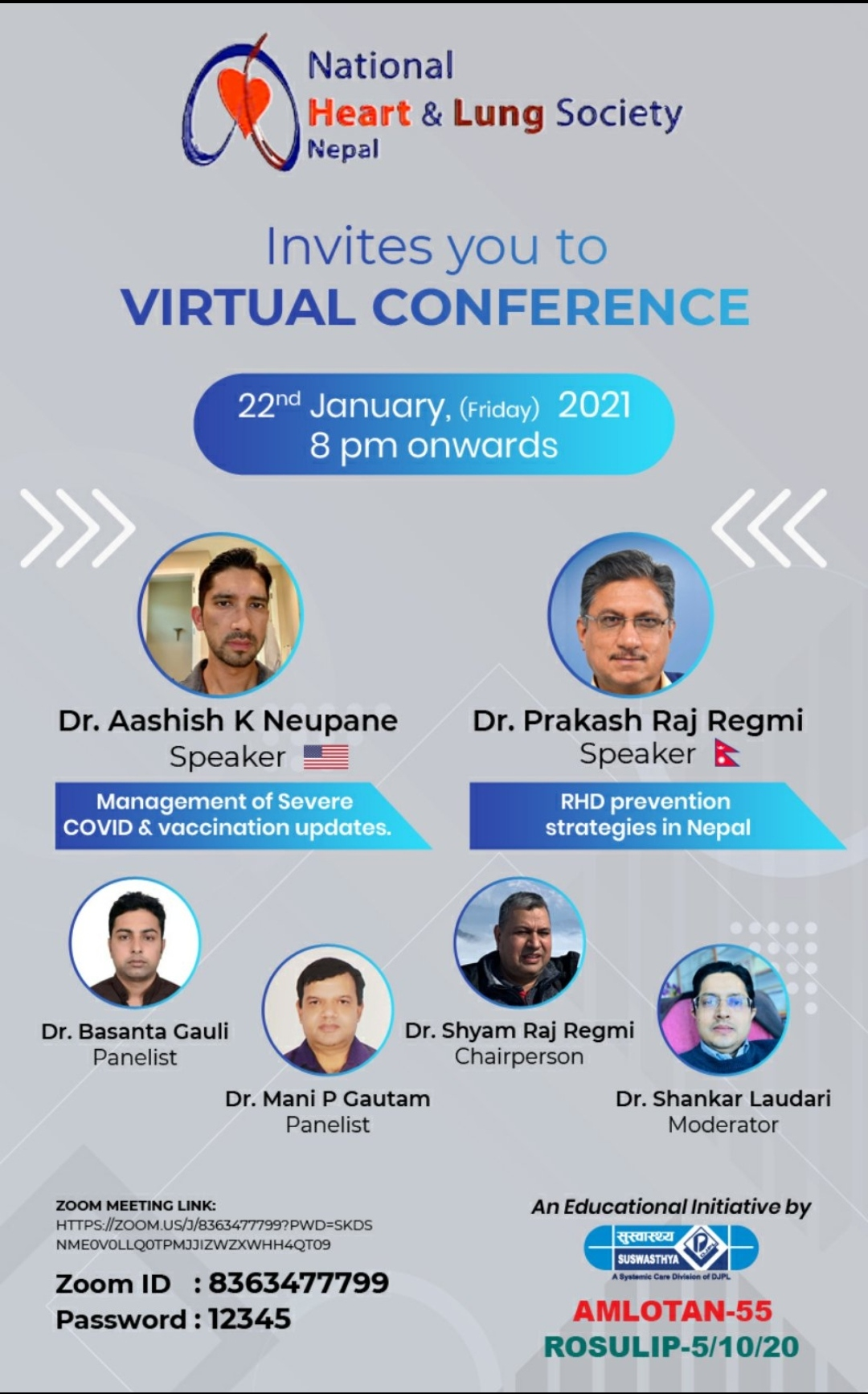 Webinar – recent updates from National Heart and Lung Society Nepal